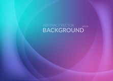 Violet and blue abstract background with lines. Violet and blue abstract background with smooth round lines and glowing light on top. Template for placard or Royalty Free Stock Photography
