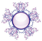 Violet and blue brooch Royalty Free Stock Photos