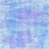 Violet and blue crumpled paper for background Royalty Free Stock Photo