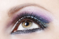 Violet and blue make-up Royalty Free Stock Photography