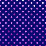 Violet Blue Metallic Foil Polka rosada Dot Pattern Fotos de archivo