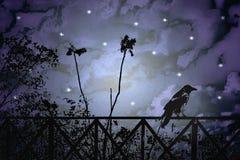 Fantasy Dark Night Scene Illustration royalty free illustration
