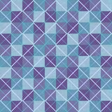 Violet and blue patchwork seamless background with squares and rhombuses Stock Photo