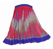 Violet blue pink skirt Stock Photo