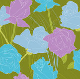 Violet and blue roses Stock Image