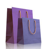 Violet and blue shopping bags. Stock Photography