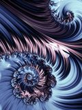 Violet and blue spiral abstract fractal pattern Royalty Free Stock Photo