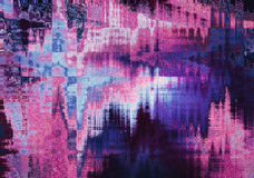 Free Violet Blurred Abstract Background Texture With Horizontal Stripes. Glitches, Distortion On The Screen Broadcast Digital TV Satell Stock Photography - 79097472