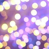 Violet bokeh lighs Royalty Free Stock Images