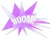 Violet Boom Vintage Background Stock Images