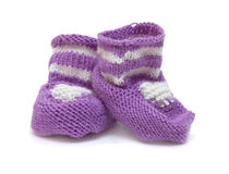 Violet bootees Royalty Free Stock Photos