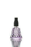 Violet Bottle with Perfume isolated. Stock Photo