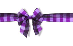Violet bow Royalty Free Stock Photography