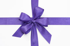 Violet bow. On a white background Stock Photos