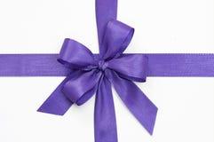 Violet bow Stock Photos