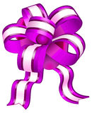 Violet bow Stock Images