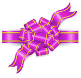 Violet bow Royalty Free Stock Photo