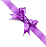 Violet bow isolated on white background Royalty Free Stock Photography