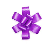Violet bow Stock Image