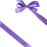 Violet bow wrap Royalty Free Stock Photo