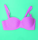 Violet bra (summer concept) Royalty Free Stock Photo