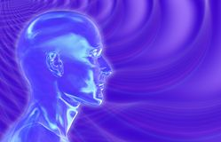 Violet Brainwaves Background Stock Image