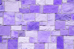 Violet brick patchwork Stock Photos