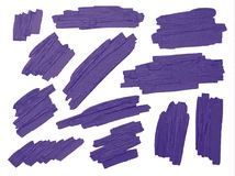 Violet brush stoke texture on white background Royalty Free Stock Images