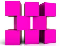 Violet building blocks. An illustration of violet colored block boxes Royalty Free Stock Photos