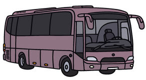 Violet bus Royalty Free Stock Photography