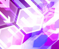 Violet Business Background Hexagon Royalty Free Stock Photos