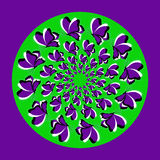 Violet butterflies_ green circle Royalty Free Stock Images