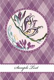 Violet butterfly Stock Photo
