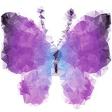 Violet butterfly of triangles Royalty Free Stock Image