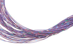 Violet cables of telecommunication network Royalty Free Stock Photos