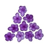 Violet candy of Madrid. Violet candy, hard candy in shape of violet flower, aromatized with Violet Flower Essence, traditionally made in Madrid, Spain Stock Photos