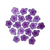 Violet candy of Madrid. Violet candy, hard candy in shape of violet flower, aromatized with Violet Flower Essence, traditionally made in Madrid, Spain Stock Photo