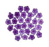 Violet candy of Madrid. Violet candy, hard candy in shape of violet flower, aromatized with Violet Flower Essence, traditionally made in Madrid, Spain Royalty Free Stock Image
