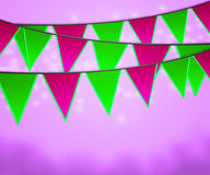 Violet Carnival Flags Background Royalty Free Stock Photo