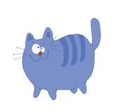 Violet_cat. Smiling violet cat with stripe Vector Illustration