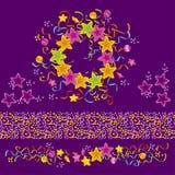 Violet celebration template Stock Images