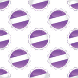 Violet certificate seal pattern Royalty Free Stock Photo