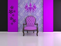 Violet chair Royalty Free Stock Image