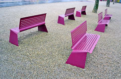 Violet chair line, environment, Royalty Free Stock Photography