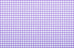 Violet checkered fabric Royalty Free Stock Images