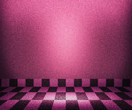 Violet Chessboard Mosaic Room Background Stock Images