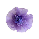 Violet children's bow hairpin for hair Royalty Free Stock Photography