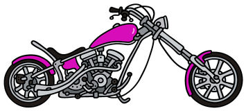 Violet chopper. Hand drawing of a classic violet chopper - not a real model royalty free illustration