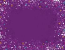 Violet christmas background,  Royalty Free Stock Photo