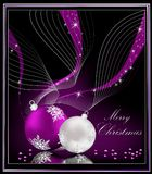 Violet Christmas background. Violet and silver Stock Images